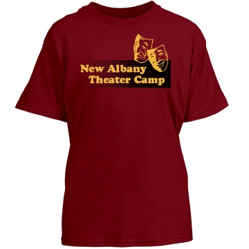 New Albany Theater Camp Youth Gildan Heavy Cotton Crew Neck Tee