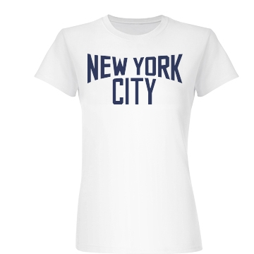 New York City Jersey Junior Fit Basic Bella Favorite Tee