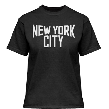 New York City Misses Relaxed Fit Gildan Heavy Cotton Tee