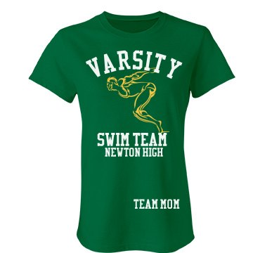 Newton High Team Mom Junior Fit Bella Favorite Tee