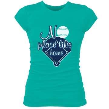 No Place Like Home Plate Junior Fit Bella Sheer Longer Length Rib Tee