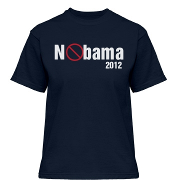 Nobama Obama 2012 Misses Relaxed Fit Gildan Heavy Co