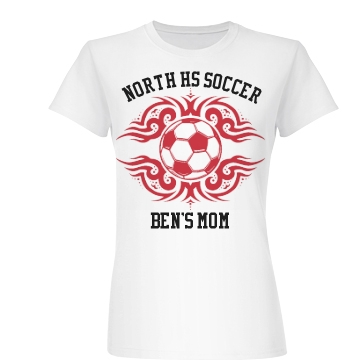 North HS Soccer Mom Junior Fit Basic Bella Favorite Tee