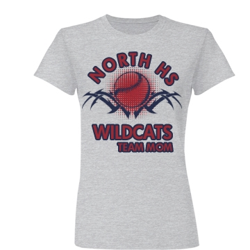 North HS Wildcats Mom Junior Fit Basic Bella Favorite Tee