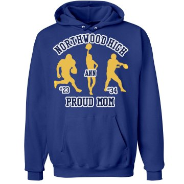 Northwoods High Football Unisex Hanes Ultimate Cotton Heavyweight Hoodie