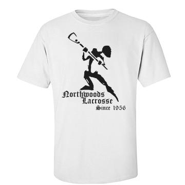 Northwoods Lacrosse Unisex Basic Port & Company Essential Tee