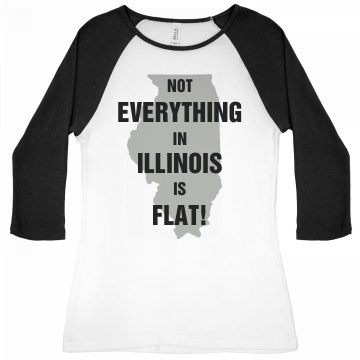Not Everything Illinois Junior Fit Bella 1x1 Rib 3/4 Sleeve Raglan Tee