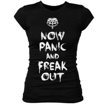 Now Panic & Freak Out Junior Fit Bella Sheer Longer Length Rib Tee