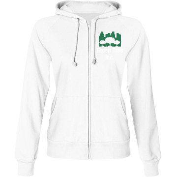 Nursery Business Junior Fit Bella Fleece Raglan Full Zip Hoodie