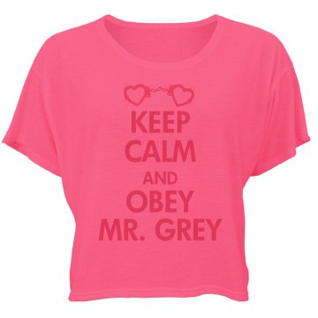 Obey Mr. Grey Bella Flowy Boxy Lightweight Crop