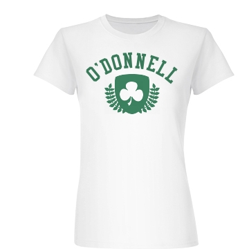 O'Donnell Shamrock  Junior Fit Basic Bella Favorite Tee