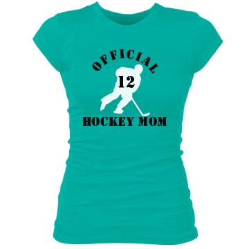 Official Hockey Mom Junior Fit Bella Sheer Longer Length Rib Tee