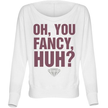 Oh You Fancy Huh Bella Flowy Lightweight Long Sleeve Dolman Tee