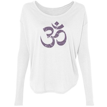 Ohm Yoga Bella Flowy Lightweight Long Sleeve Tee with Rib Sleeves