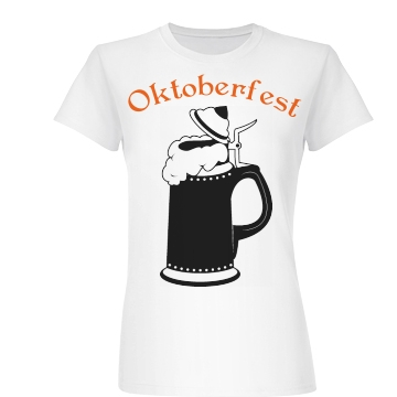 Oktoberfest Beer Stein Junior Fit Basic Bella Favorite Tee