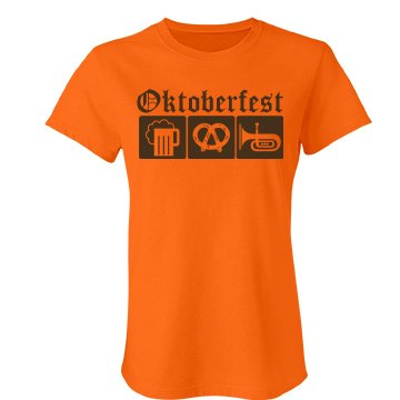 Oktoberfest Emblem Junior Fit Bella Favorite Tee