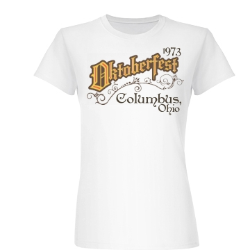 Oktoberfest Flourish Junior Fit Basic Bella Favorite Tee