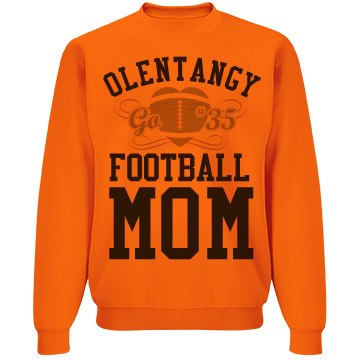 Olentangy Football Mom Unisex Jerzees Neon NuBlend Crewneck Sweatshirt
