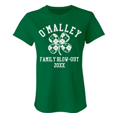 O'Malley Family Blow Out Junior Fit Bella Favorite Tee