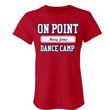 On Point Dance Camp Junior Fit Bella Favorite Tee