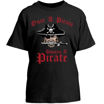 Once a Pirate T-Shirt Youth Gildan Heavy Cotton Crew Neck Tee