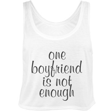 One Boyfriend Not Enough Bella Flowy Boxy Lightweight Crop Top Tank Top