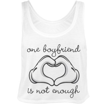 One Glove Hand Boyfriend Bella Flowy Boxy Lightweight Crop Top Tank Top