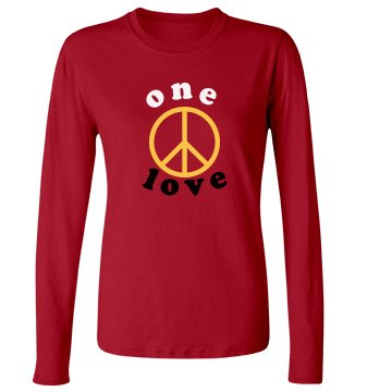 One Love Junior Fit Bella Long Sleeve Crewneck Jersey Tee