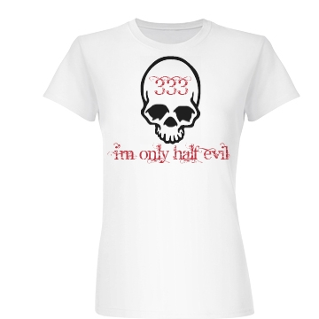 Only Half Evil Junior Fit Basic Bella Favorite Tee