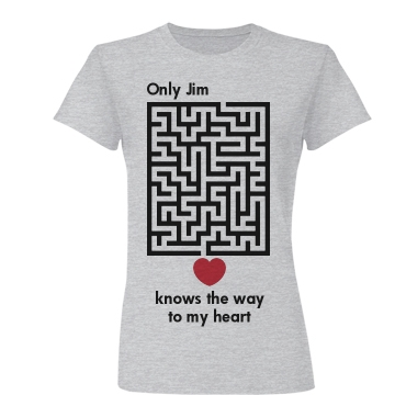 Only Jim Knows The Way Junior Fit Basic Bella Favorite Tee