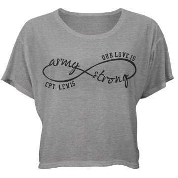 Our Love Is Army Strong Bella Flowy Boxy Lightweight Crop Top Tee