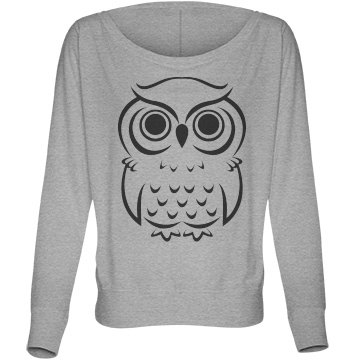 Owl Fashion Top Bella Flowy Lightweight Long Sleeve Dolman Tee
