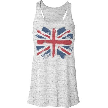 Paint Brush Union Jack Bella Flowy Lightweight Racerback Tank Top