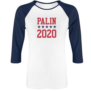 Palin 2012 Junior Fit Bella 1x1 Rib 3/4 Sleeve Raglan Tee