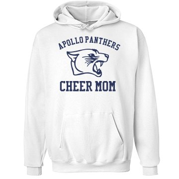 Panther Cheer Mom Unisex Hanes Ultimate Cotton Heavyweight Hoodie