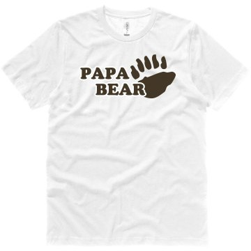 Papa Bear Unisex Canvas Je