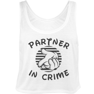 Partner In Crime 1 Bella Flowy Boxy Lightweight Crop Top Tank Top