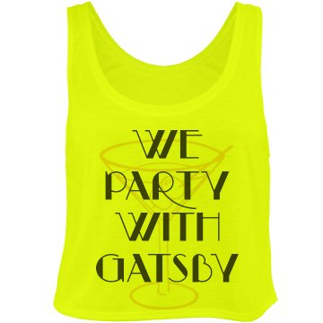 Party Martini Gatsby Bella Flowy Boxy Lightweight Crop Top Tank Top