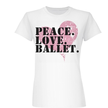 Peace Love Ballet Junior Fit Basic Bella Favorite Tee