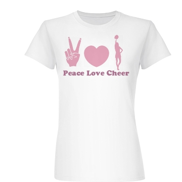 Peace Love Cheer Junior Fit Basic Bella Favorite Tee