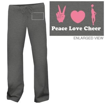 Peace Love Cheer Sweats