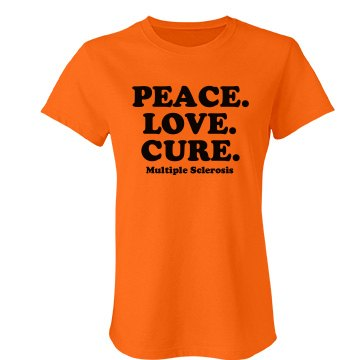 Peace. Love. MS Cure Junior Fit Bella Favorite Tee