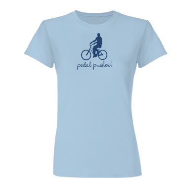 Pedal Pusher Bike Tee Junior Fit Basic Bella Favorite Tee