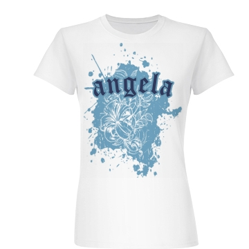 Personalized Tattoo Tee Junior Fit Basic Bella Favorite Tee