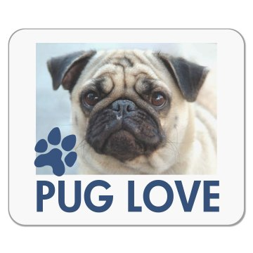 Pet Pug Mousepad