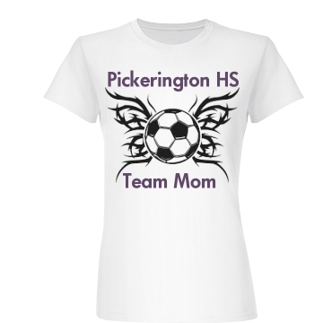 Pickerington Soccer Mom Junior Fit Basic Bella Favorite Tee