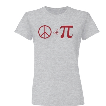 Piece Of Pi Junior Fit Basic Bella Favorite Tee