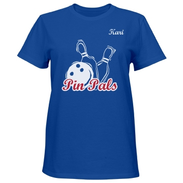 Pin Pals Team Shirt Misses Relaxed Fit Port & Company Essential Tee