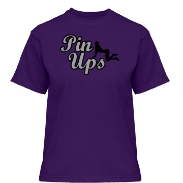 Pin Ups Team Shirt Misses Relaxed Fit Gildan Heavy Cotton Tee
