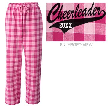 Pink Plaid Cheerleader